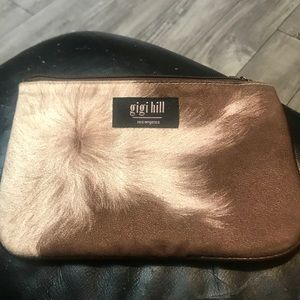 Gigi Hill cosmetic bag, zip top USED
